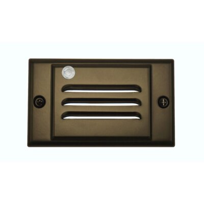 Horizontal Faceplate LED Step Light Socket Plate Color: Oil-Rubbed Bronze