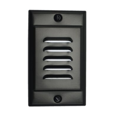 Vertical Faceplate LED Socket Plate Color: Black