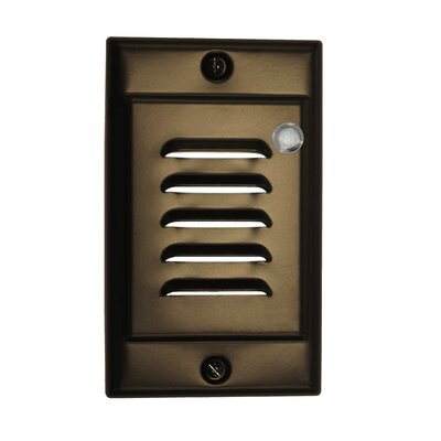 Vertical Faceplate LED Step Light with Photocell Color: Oil-Rubbed Bronze