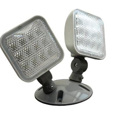 Wet Location Remote Dual Head Fixture LED Emergency Light