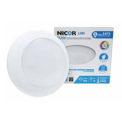 1-Light Surface Mount Retrofit Flush Mount