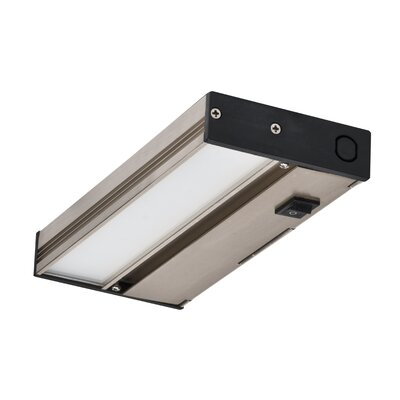 Slim Dimmable LED 8 Under Cabinet Bar Light Finish: Nickel