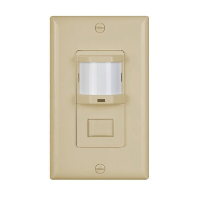 Wall Mounted Vacancy Motion Sensor Finish: Ivory
