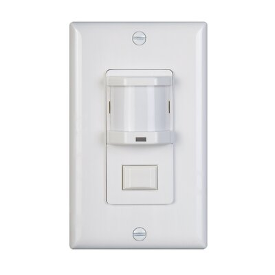 Wall Mounted Vacancy Motion Sensor Finish: White