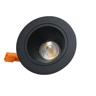 LED Recessed Housing Finish: Black