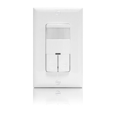 Dual Relay Wall Switch Occupancy Sensor Finish: White