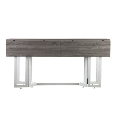 Adams Extendable Dining Table Finish: Washed Gray/White