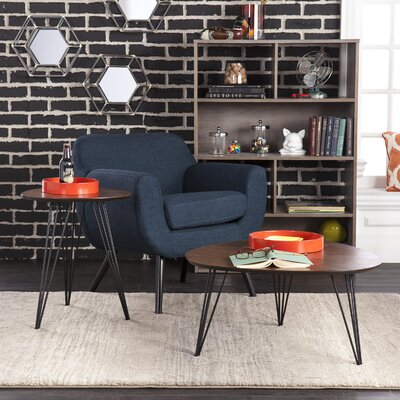 2 Piece End Table Set Color: Dark Tobacco
