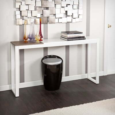Nelly Console Table Finish: White