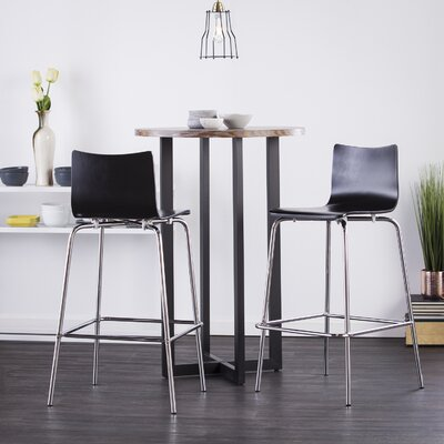 Blence 29.5 Bar Stool Finish: Black