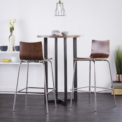 Blence 29.5 inch Bar Stool (Set of 2) Finish: Walnut