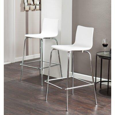 Cheltondale 29.25 Bar Stool Upholstery: White