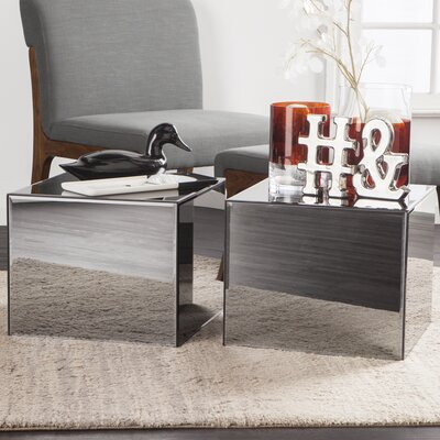 Echo Mirrored End Table