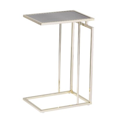 Howell End Table Table Base Color: Champagne, Table Top Color: Gray