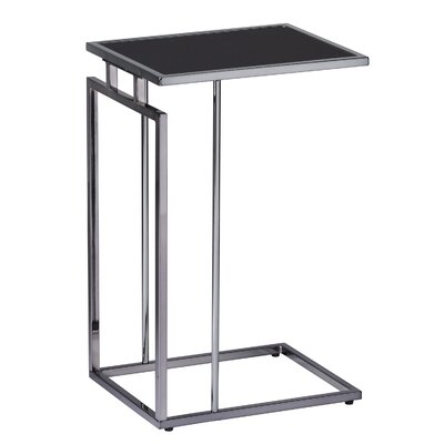Howell End Table Table Base Color: Black, Table Top Color: Black