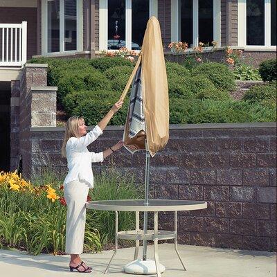 Umbrella Cover with Sewn Size: 60 H x 20.5 W x 20.5 D, Color: Tan