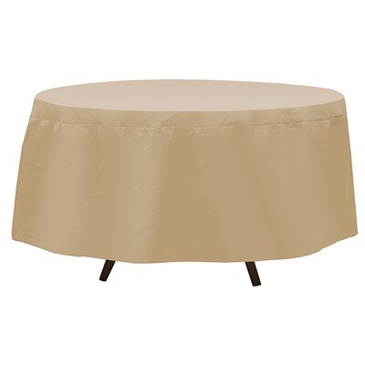 Round Table Cover Color: Tan