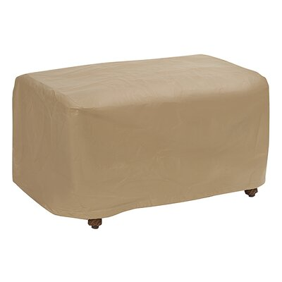 Ottoman Cover Size: 18 H x 25 W x 32 D, Color: Tan
