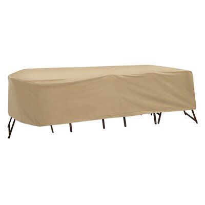 Dining Set Cover Size: 30 H x 108 W x 60 D, Color: Tan