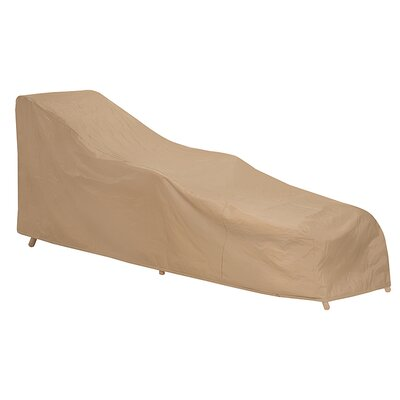 Wicker Chaise Lounge Cover Color: Tan