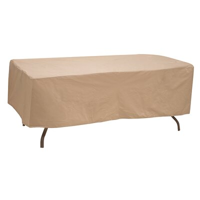 Table Cover Size: 20 H x 48 W x 76 D, Color: Tan