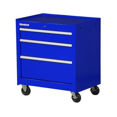 """International 27"""" Wide 3 Drawer Bottom Cabinet - Color: Blue"""