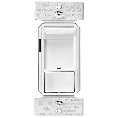 3-Way AL Series Single Pole Sliding Dimmer Finish: White