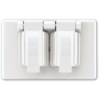 1G NM Duplex Receptacle Box Cover (Set of 10)