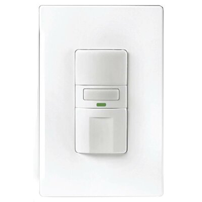 Vacancy Switch with Led Light Color: White