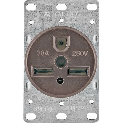 30A 3 Wire Flush Grounding Power Receptacle (Set of 25)