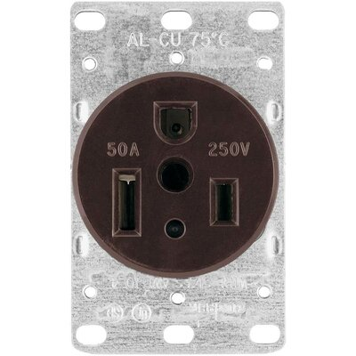 50A 3 Wire Flush Grounding Power Receptacle (Set of 25)