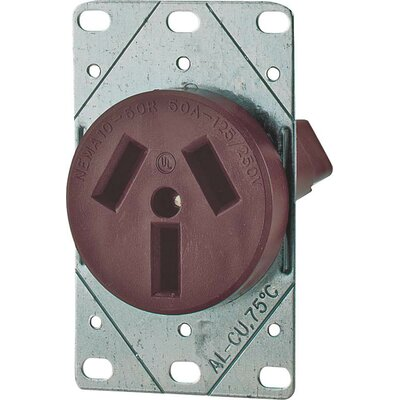 50A 3 Wire Range Receptacle