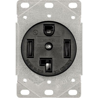 30A 3 Pole 4 Wire Flush Grounding Power Receptacle (Set of 12)