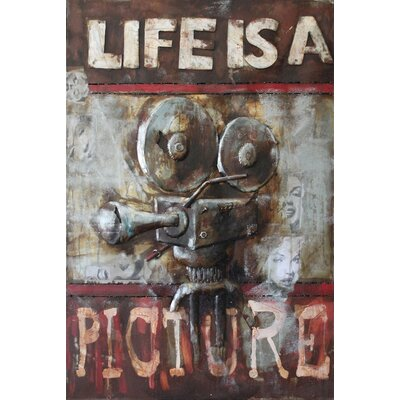 Life Is A Picture Metal Wall Art