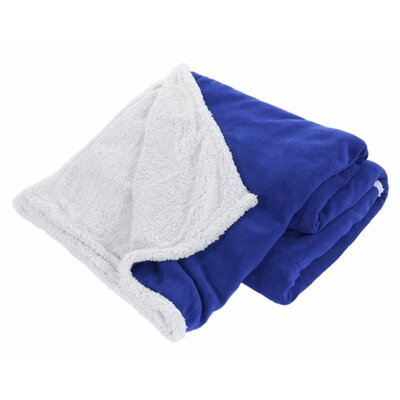 Pegasus Home Fashions Cozy Nights Sherpa Blanket - Color: Blue, Size: King