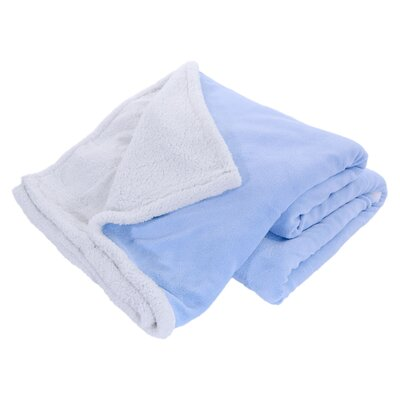 Pegasus Home Fashions Cozy Nights Sherpa Blanket - Size: Full/Queen, Color: Light Blue