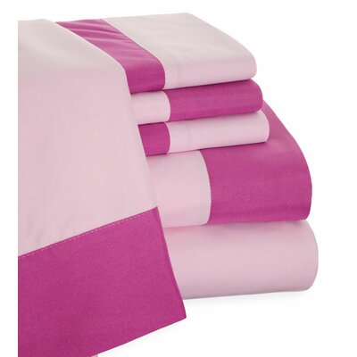 Presidential Suite 6 Piece 2 Toned Sheet Set Size: King, Color: Orchid/Lilac