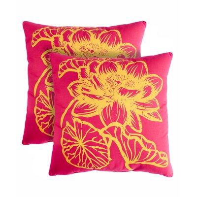 Fleur Cotton Throw Pillow