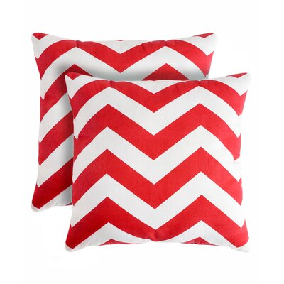 Rockford Zig Zag Throw Pillow Color: Red