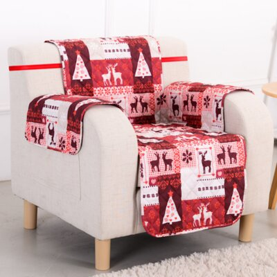 Christmas Lodge Chair Slipcover