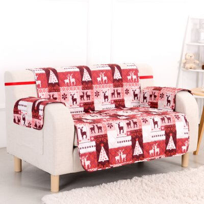 Christmas Lodge T-Cushion Loveseat Slipcover