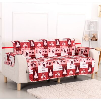Christmas Lodge Box Cushion Sofa Slipcover