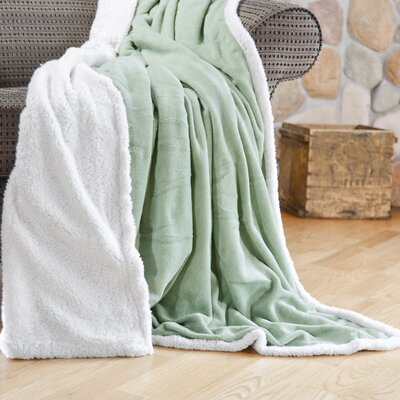 Cozy Nights Sherpa Fleece Blanket Size: Full/Queen, Color: Sage