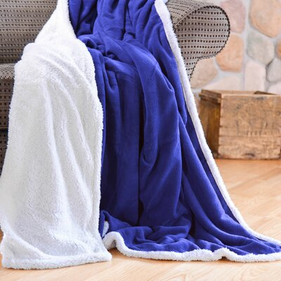 Cozy Nights Sherpa Fleece Blanket Color: Blue, Size: King