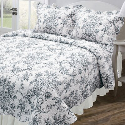 Vintage Francesca Reversible Quilt Set Size: Full / Queen