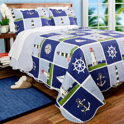 Lighthouse Quilt Set Size: King