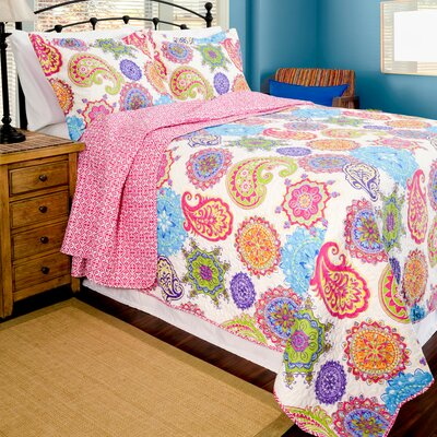 Home ID Reversible Quilt Set Size: King