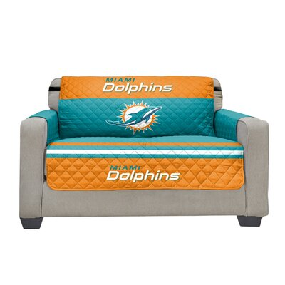 NFL Loveseat Slipcover NFL Team: Miami Dolphins
