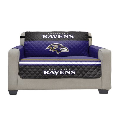 NFL Loveseat Slipcover NFL Team: Baltimore Ravens