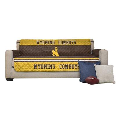 NCAA Polyester Sofa Slipcover NCAA Team: University of Wyoming